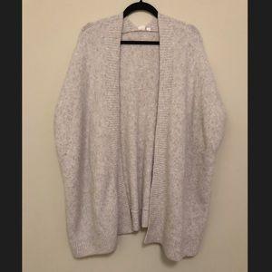 Gap Gray Sleeveless Oversized Cardigan Size XS